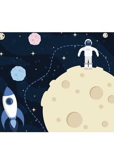 Artikel Mor Gezegenler Masa Örtüsü 140x160cm Renkli